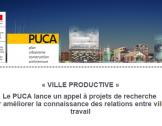 Appel à projets « VILLE PRODUCTIVE »