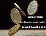 Les financements privés : webinaire du 25 avril