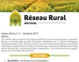 Lettre info du réseau N°2 - Octobre 2017